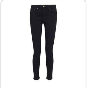 Rag & Bone • Black Low Rise Skinny Jeans •Size 25